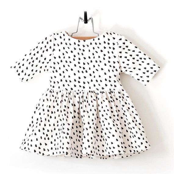 Dalmatian Organic Cotton Baby Dress