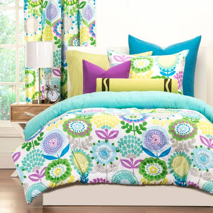 Product Image for Crayola® Pointillist Pansy Reversible Comforter Set 2 out of 3