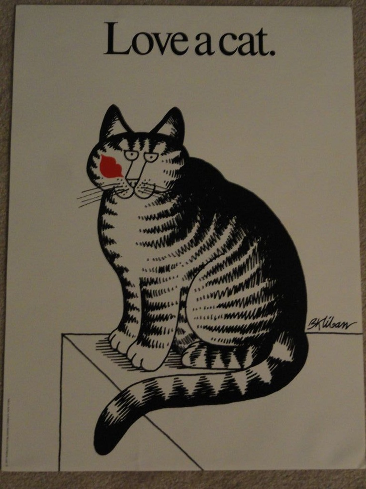Vintage B Kliban Cat Card Love A 1977 W Envelope Kilban Excellent