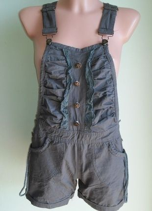 Kup mój przedmiot na #vintedpl http://www.vinted.pl/damska-odziez/ogrodniczki/14551277-spodnie-ogrodniczki-krotkie-khaki-38
