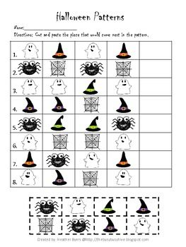 Halloween Patterns Worksheet