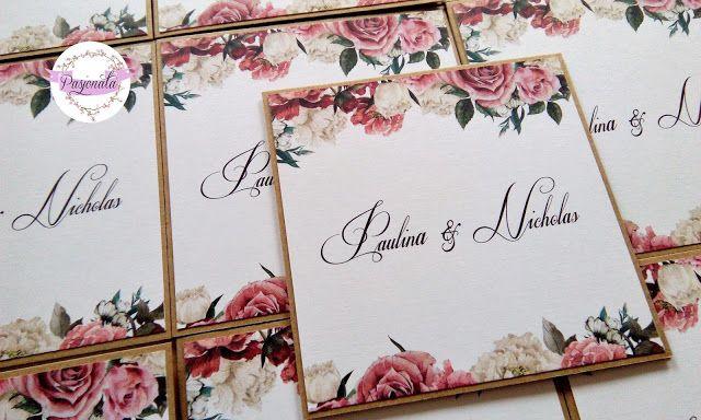 pasjonata.zaproszenia: # 122 Zamówienie pani Pauliny i pana Nicholasa