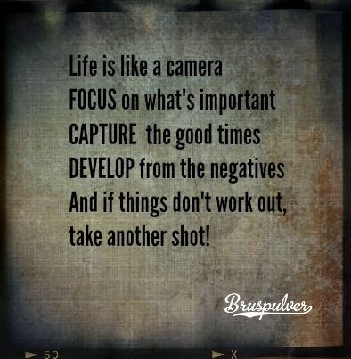 Life is like a camera... http://www.bruspulver.no/
