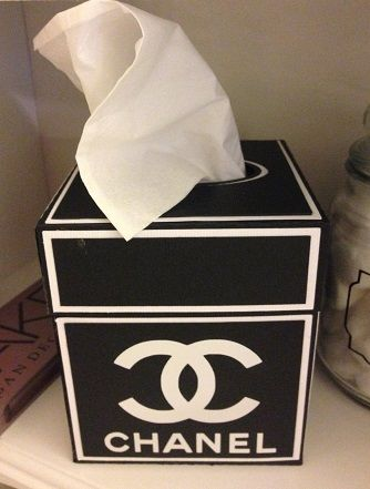 Chanel Kleenex tissue Box I made using file from https://www.etsy.com/shop/CraftingBySonia   www.pinterest.com/shersher135