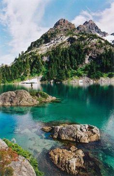 Cream Lake On Vancouver Island.