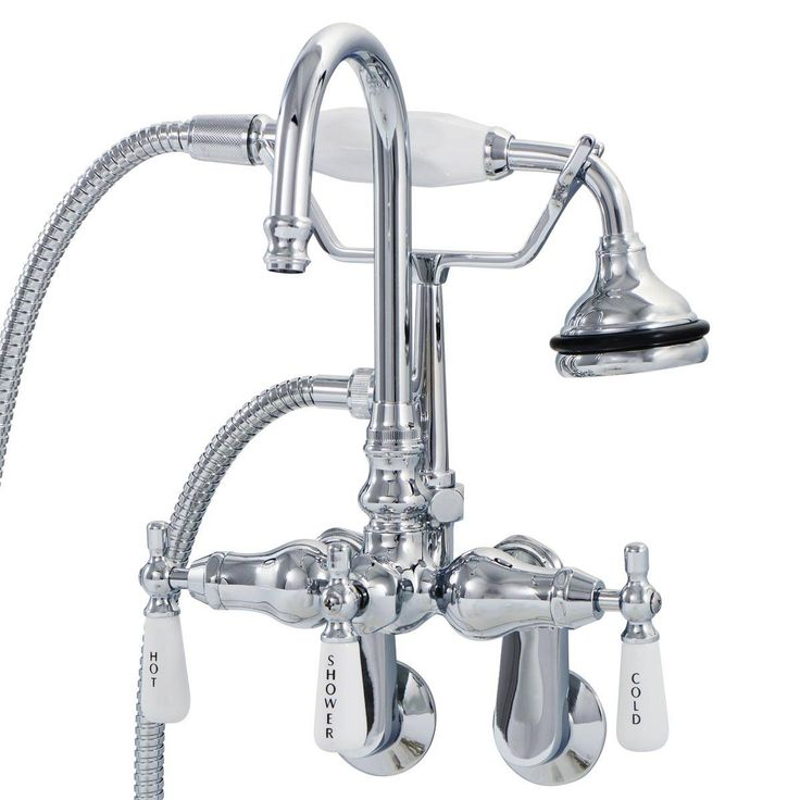 Randolph Morris Clawfoot Tub Wall Mount Gooseneck Faucet with Handshower