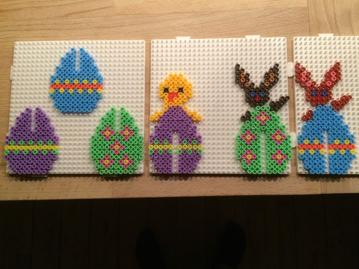 Easter eggs hama perler beads by Julie Loose