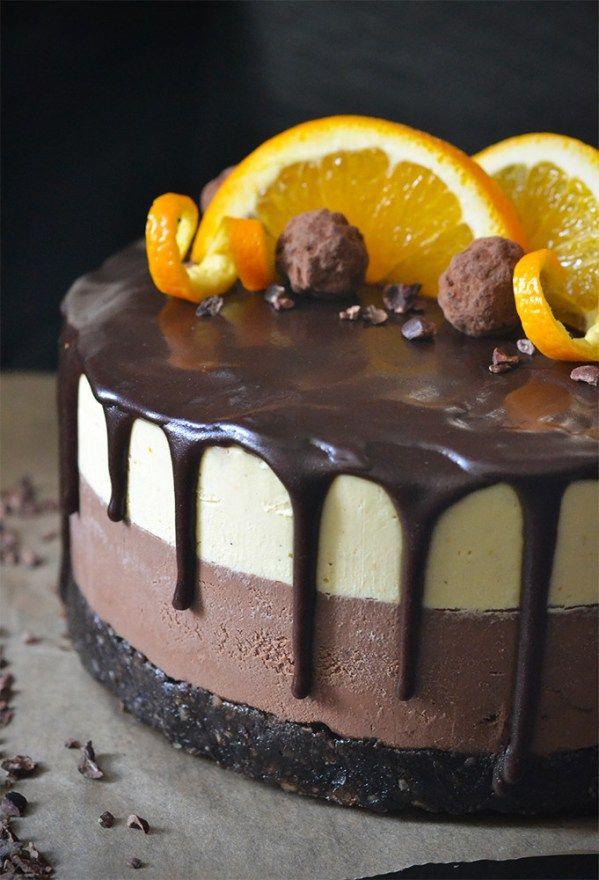 Raw Double Chocolate Orange Cheesecake