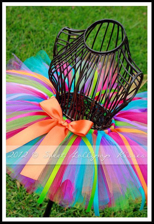 Rooty-Tooty Tutu, Customize Tutu Size, Great for Girls 1st 2nd Birthdays Photos Dress up. $30.99, via Etsy.