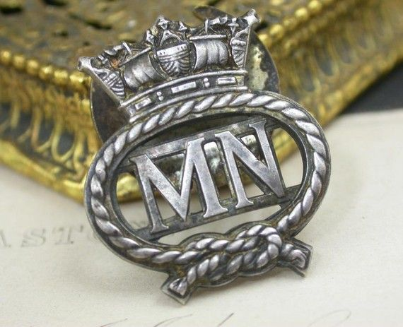 british merchant navy | World War II British Merchant Navy Lapel Badge. by derbyhouse - tattoo