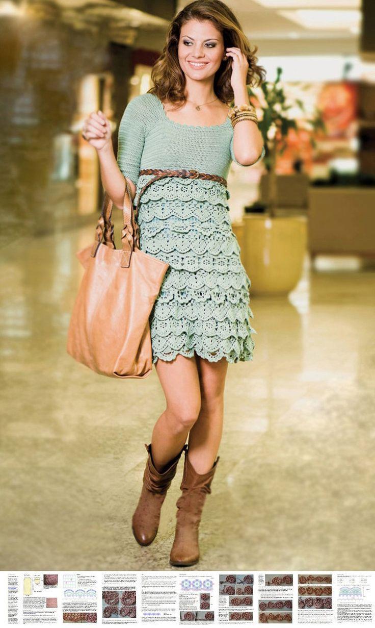 Crochet party dress PATTERN, crochet cocktail dress pattern, crochet dress PDF pattern, detailed instructions in ENGLISH, sexy crochet dress by OnlyFavoritePATTERNs on Etsy https://www.etsy.com/listing/163363844/crochet-party-dress-pattern-crochet