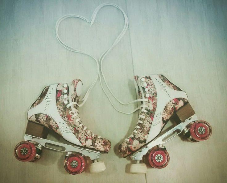 My Skate Meus patins #rye #patins #retro #floral #traxart