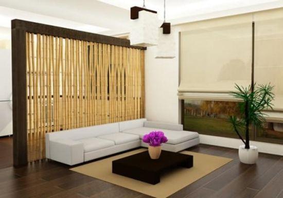 Bambus SichtschutzWohnzimmer TrennelementÖko Design