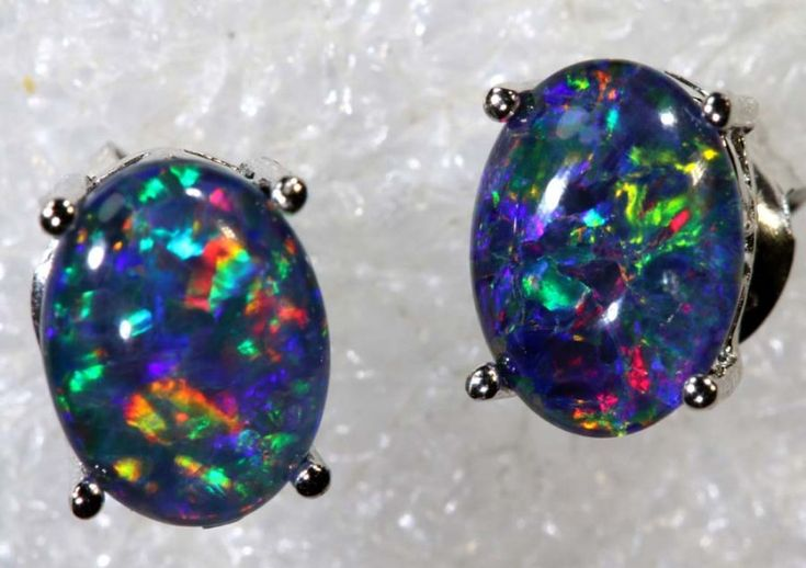 6.8 CTS TRIPLET OPAL SILVER EARRINGS OF-2145
