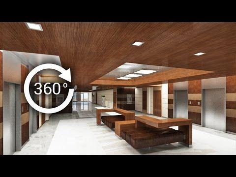 360° - 3D render   Интерьер   Апарт-отель   Лифтовой холл - YouTube