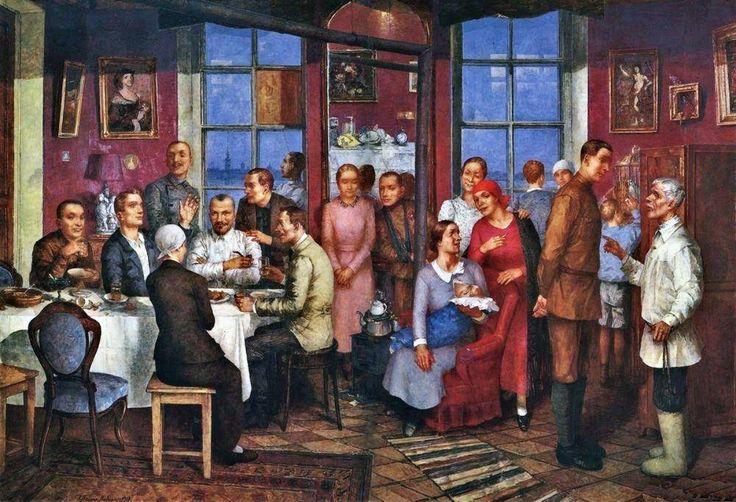 Kuzma Petrov-Vodkin. Housewarming. 1937