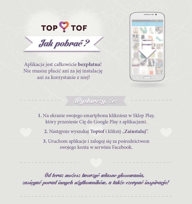 Pobierz za darmo aplikację modową TopTof i ciesz się z udanych zakupów !  :)  / kliknij aby dowiedzieć się więcej!