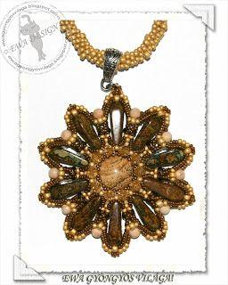 Ewa gyöngyös világa!: Asanda medál minta / Asanda pendant pattern