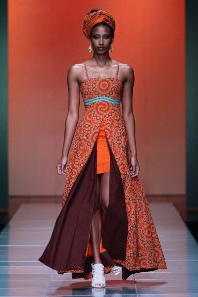 Mercedes-Benz Fashion Week Africa. Bongiwe Walaza collection. Pretoria