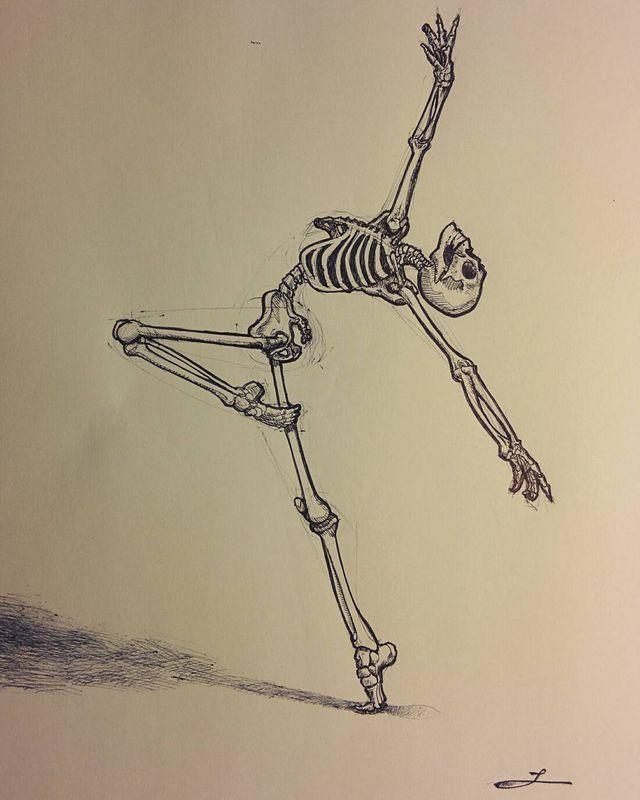 Скелеты арты для срисовки