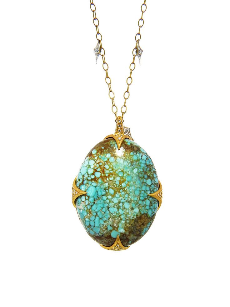 Kimono Turquoise Thorn Pendant by Cathy Waterman USD 8,980.00