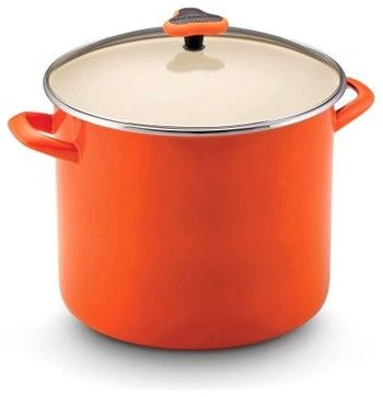 A cheerful addition to your kitchen decor the Rachael Ray 54932 Enamel on S - contemporary - cookware and bakeware - Hayneedle