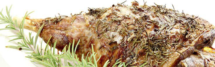 Lammekølle med hvidløgsbagte asparges og stegte svampe