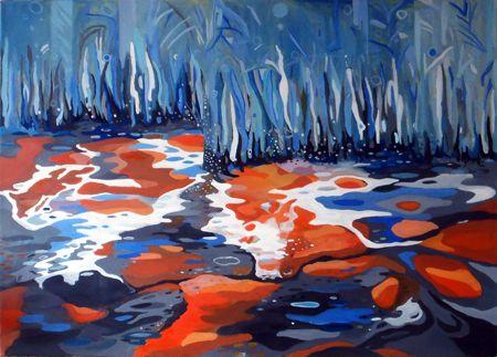 Patricia Mado  Misty Morning Shelf - 2012  Oil on Canvas  100 x 75 cm