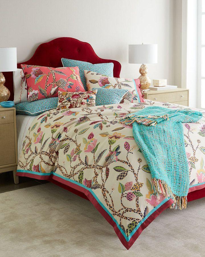 Full/Queen Comforter Set Pink Teal Light Blue Elegant