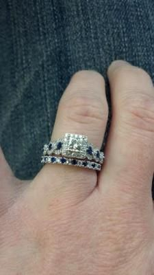 Vera Wang Love Collection 1 Ct Tw Diamond And Blue Sapphire
