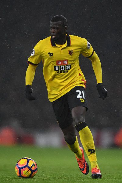 M'Baye Niang of Watford in action during the Premier League match between Arsenal and Watford at Emirates Stadium on January 31, 2017 in London, England.