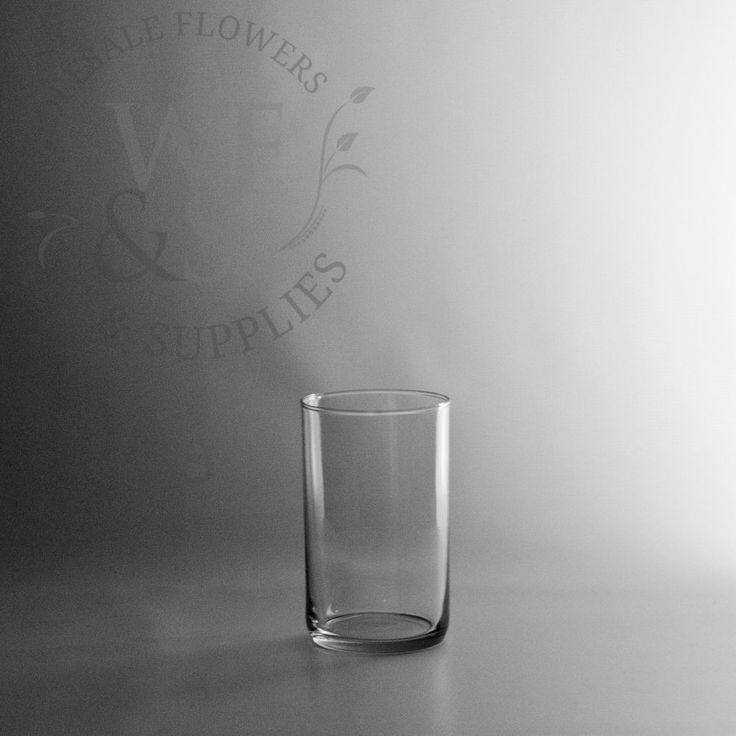 "6"" x 3.50"" Glass Cylinder Vase - WholesaleFlowersAndSupplies.com"