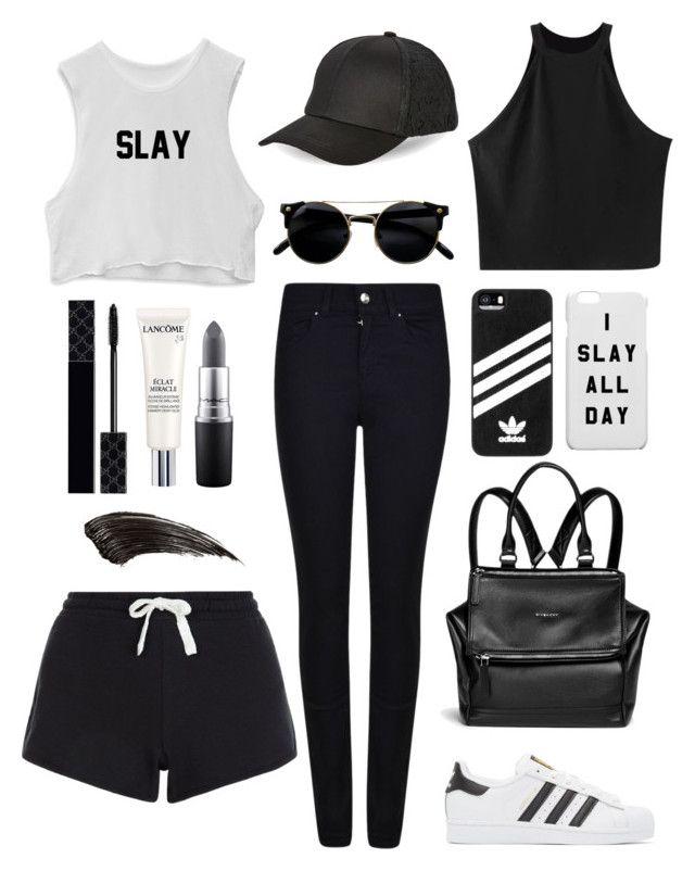 """Slay"" by julimoli27 on Polyvore featuring moda, Chicnova Fashion, Armani Jeans, adidas Originals, Givenchy, adidas, BCBGeneration, Gucci, Lancôme y MAC Cosmetics"