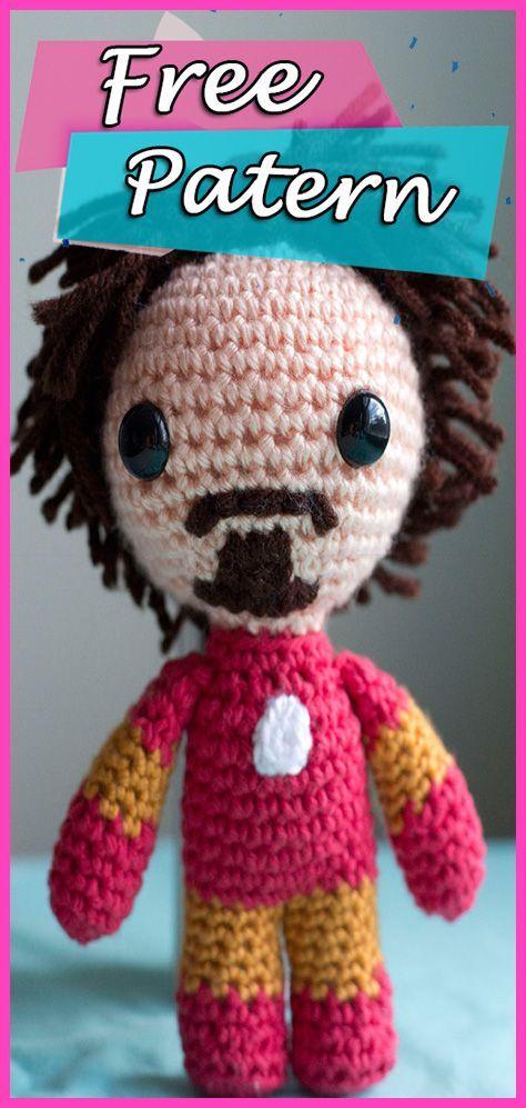 Tony Stark is Iron Man Amigurumi Crochet Free Pattern Avengers ...