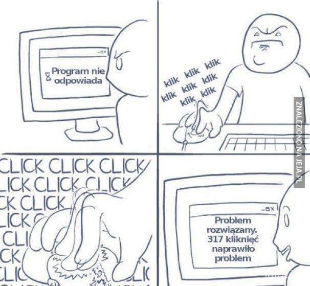 Gdy program nie odpowiada