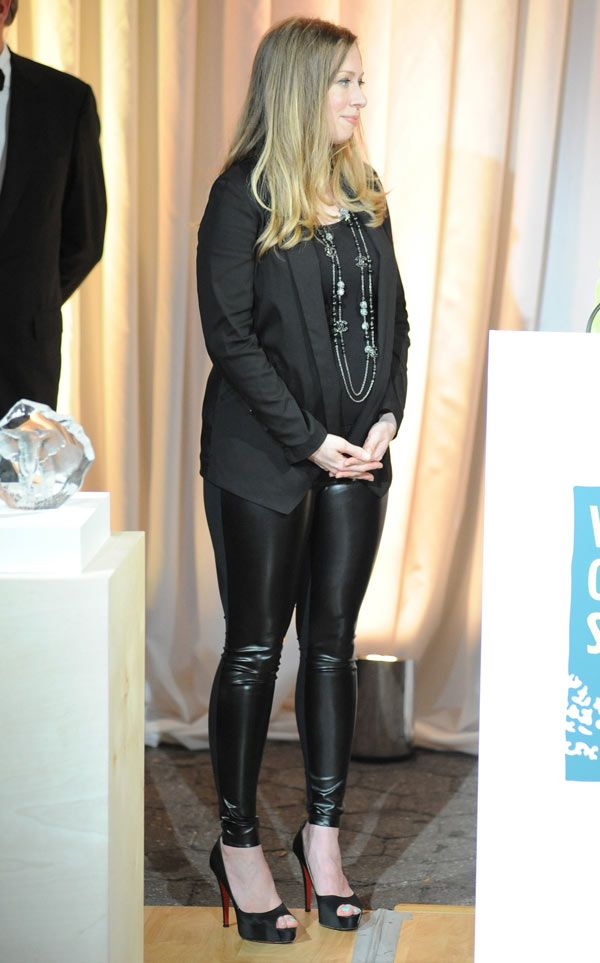 Chelsea Clinton Reveals Baby Bump In NYC