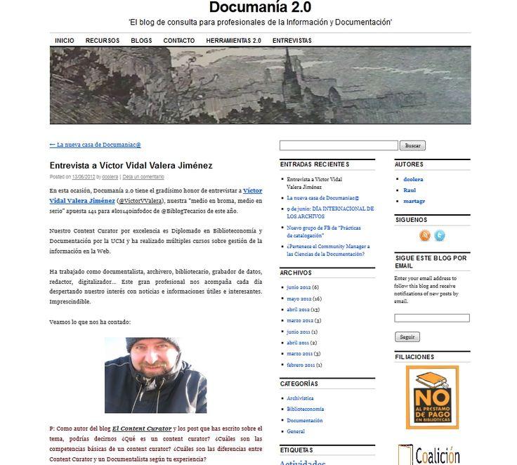 Web - Entrevista en Documanía 2.0