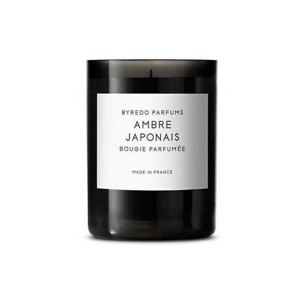 Byredo Ambre Japonais Fragranced Candle ($70) ❤ liked on Polyvore featuring home, home decor, candles & candleholders, vanilla candle, asian home decor, oriental home decor, vanilla scented candles and fragrance candles
