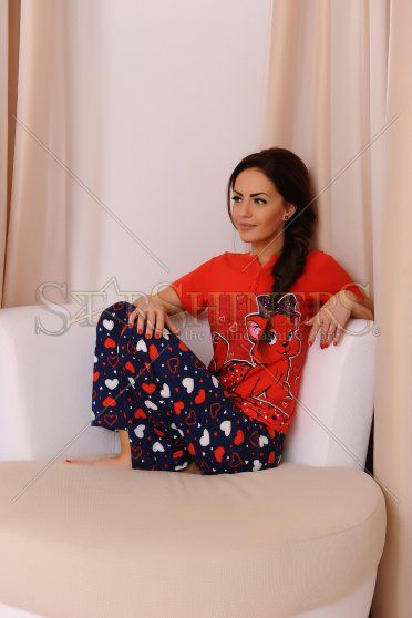 Pijama Adorable Night Red
