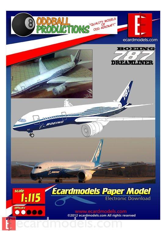 1  115 boeing 787 dreamliner paper model