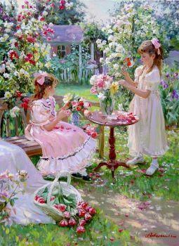 In the Rose Garden (63 pieces)