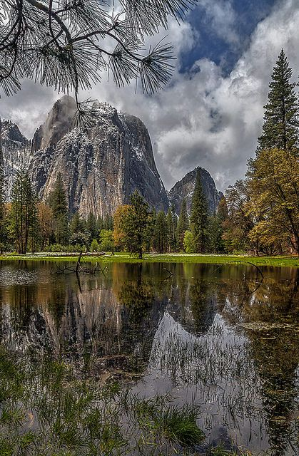Cathedral Rock After a Spring Storm ~ Yosemite National Park, California