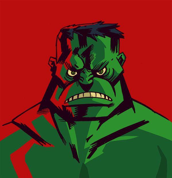 Hulk! Character Doodle by Gustavo Vargas Tataje, via Behance