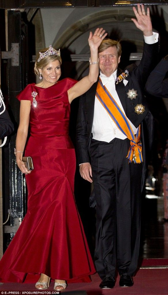 The Dutch Royal Family attended the gala dinner for the Corps Diplomatique at the Royal Palace in Amsterdam