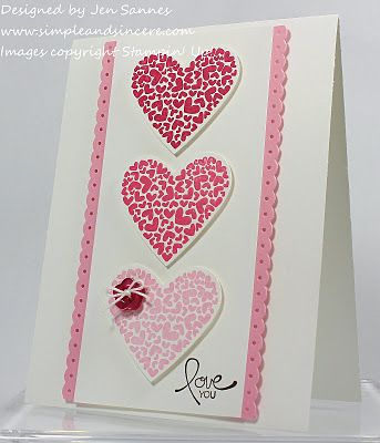 This would also look so cute with glittery pink rick rack ribbon on the sides instead of punched cardstock.