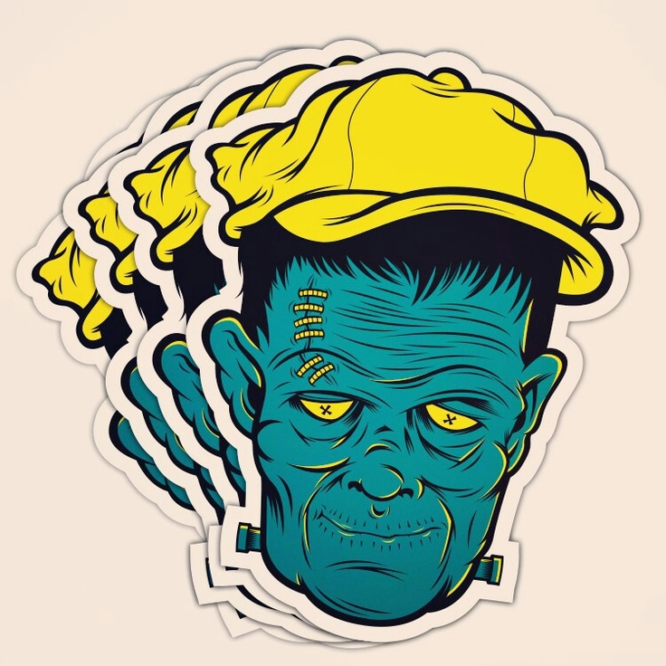 Danger brain stickers by thedangerbrain see more frankenstein