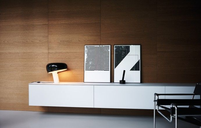 Maxima 2.2 - Ash etched glass Cereal oak  #Cesarkitchen #interiordesign #kitchen
