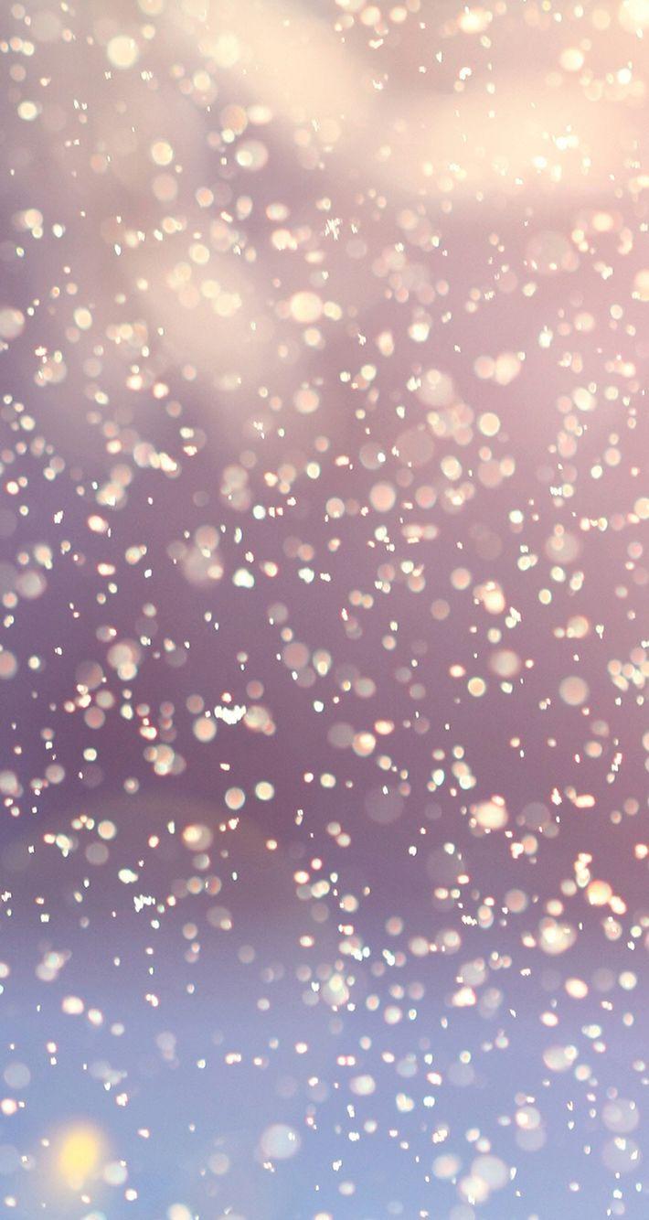 Glitter snowfalling