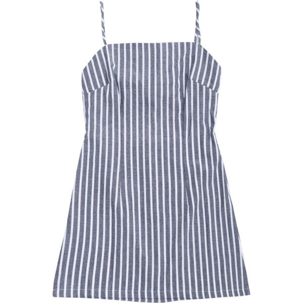 Self Tie Striped Cami Shift Dress (64 RON) ❤ liked on Polyvore featuring dresses, zaful, stripe shift dress, cami dress, striped cami, camisole dress and shift dresses