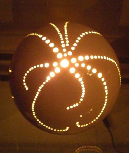 Ceramic Sphere Light With Light Fitting